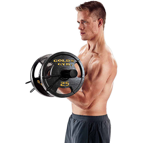 Gold's Gym 50 lb Olympic Plate Set, Pair of 25 lb Plates