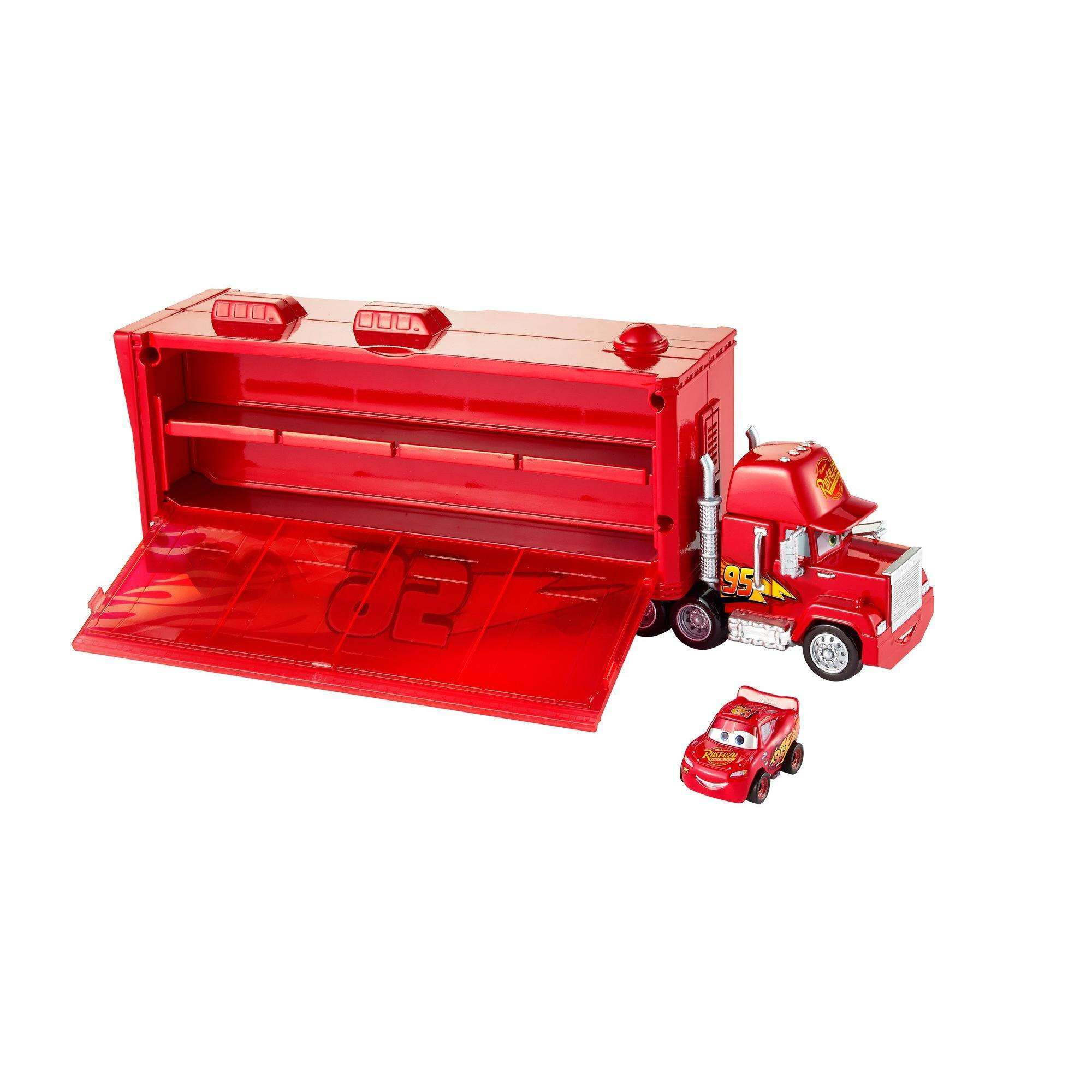 Disney Pixar Cars Metal Mini Racers Mack Truck Transporter by Mattel
