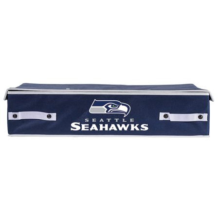 Franklin Sports NFL Seattle Seahawks Collapsible Storage Footlocker Bins - Large