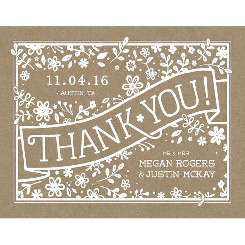 Petite Floral Standard Thank You