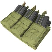 Triple Stacker Mag Pouch Olive Drab by Outdoor, Designed to to provide secure storage of and quick access to much needed, additional ammunition By Condor