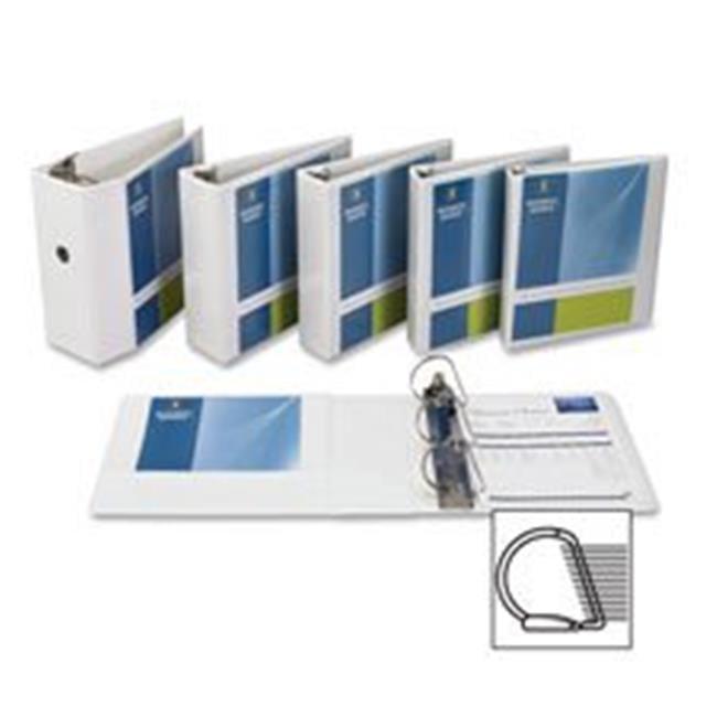 Business Source, BSN28440BD, Basic D-Ring White View Binders, 4 / Bundle, White