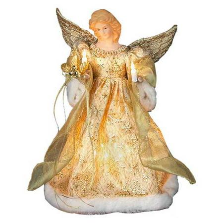 Kurt Adler 12 in. Gold Dress Angel Tree Topper](Kurt Adler Halloween)