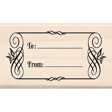 Inkadinkado Mounted Rubber Stamp, To & From Tag 1.75