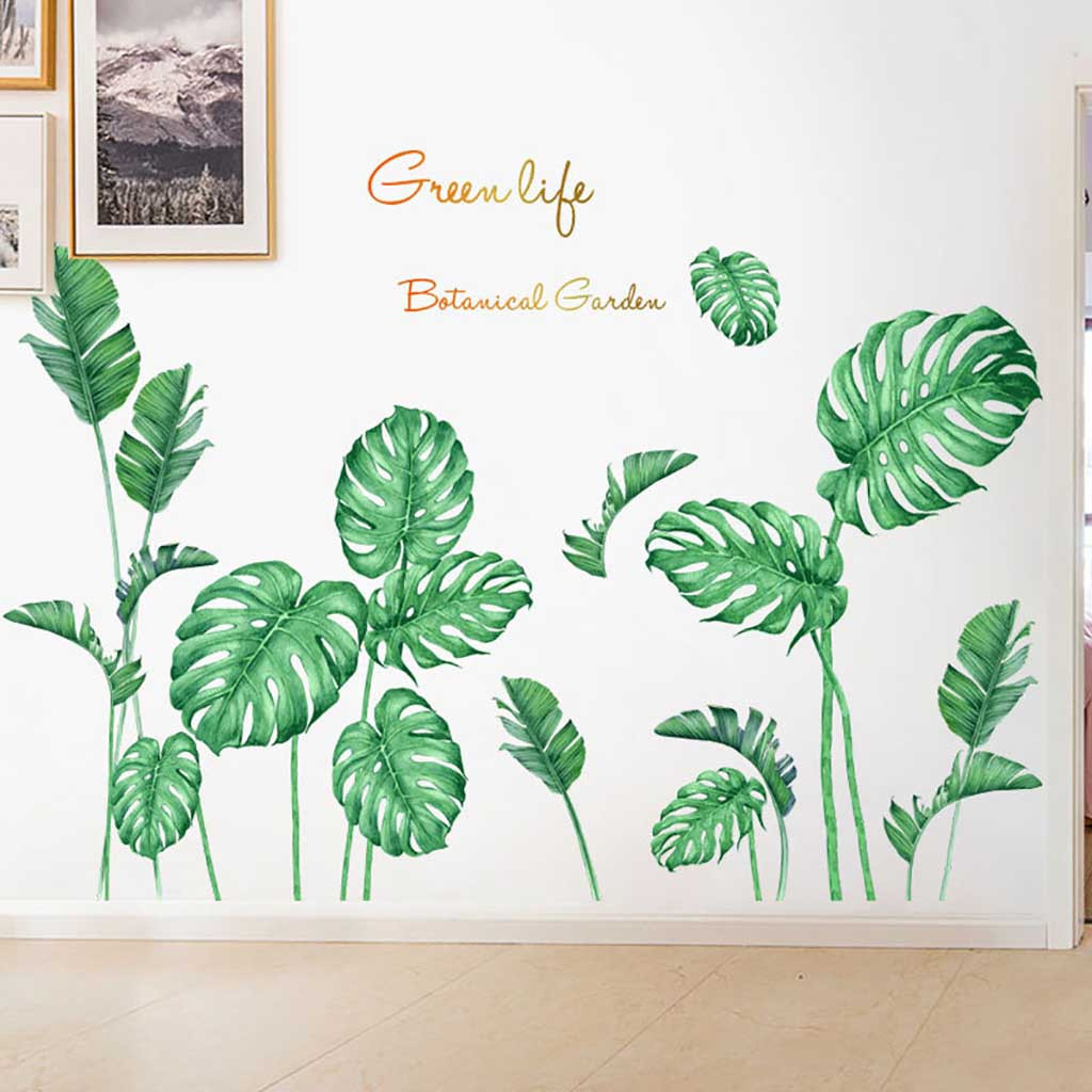 Coerni Diy Beach Tropical Palm Leaves Wall Stickers Modern Art Vinyl Decal Wall Mural Walmart Com Walmart Com Polish your personal project or design with these tropical leaves transparent png images, make it even more personalized and more attractive. walmart