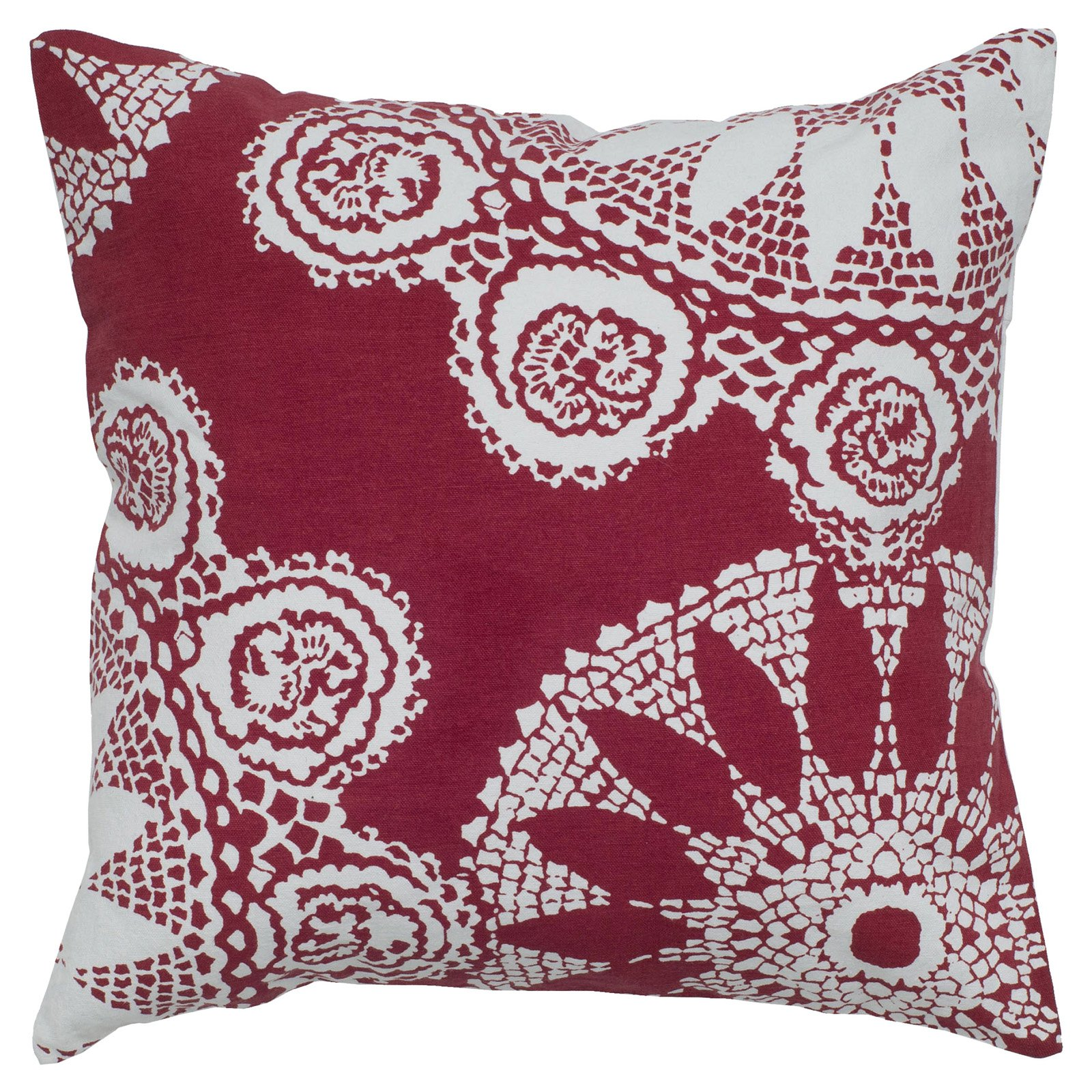 """Rizzy Home medallion18"""" x 18""""Cotton decorative filled pillow"""