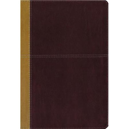 KJV, Amplified, Parallel Bible, Large Print, Leathersoft, Tan/Burgundy, Red Letter Edition : Two Bible Versions Together for Study and