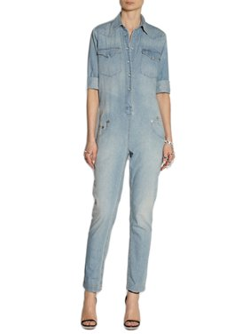 cf98a234e4e Product Image R13 Women s Light Blue Washed Denim Cowboy Jumpsuit
