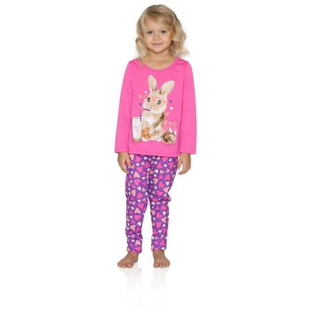 Komar Kids Big Girls' Bunny 2pc Sleepwear Legging Set, Purple, Size: 4 - image 4 of 4