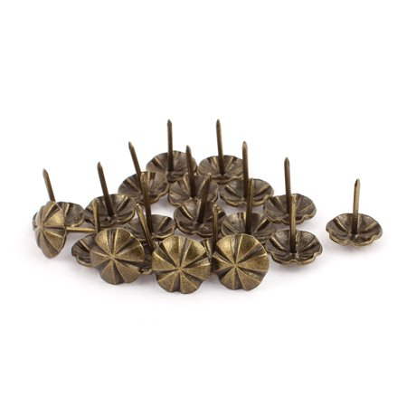 Decorative Wall Tacks (16mm Dia Upholstery Tack Nail Decorative Thumbtack Doornail Bronze Tone)