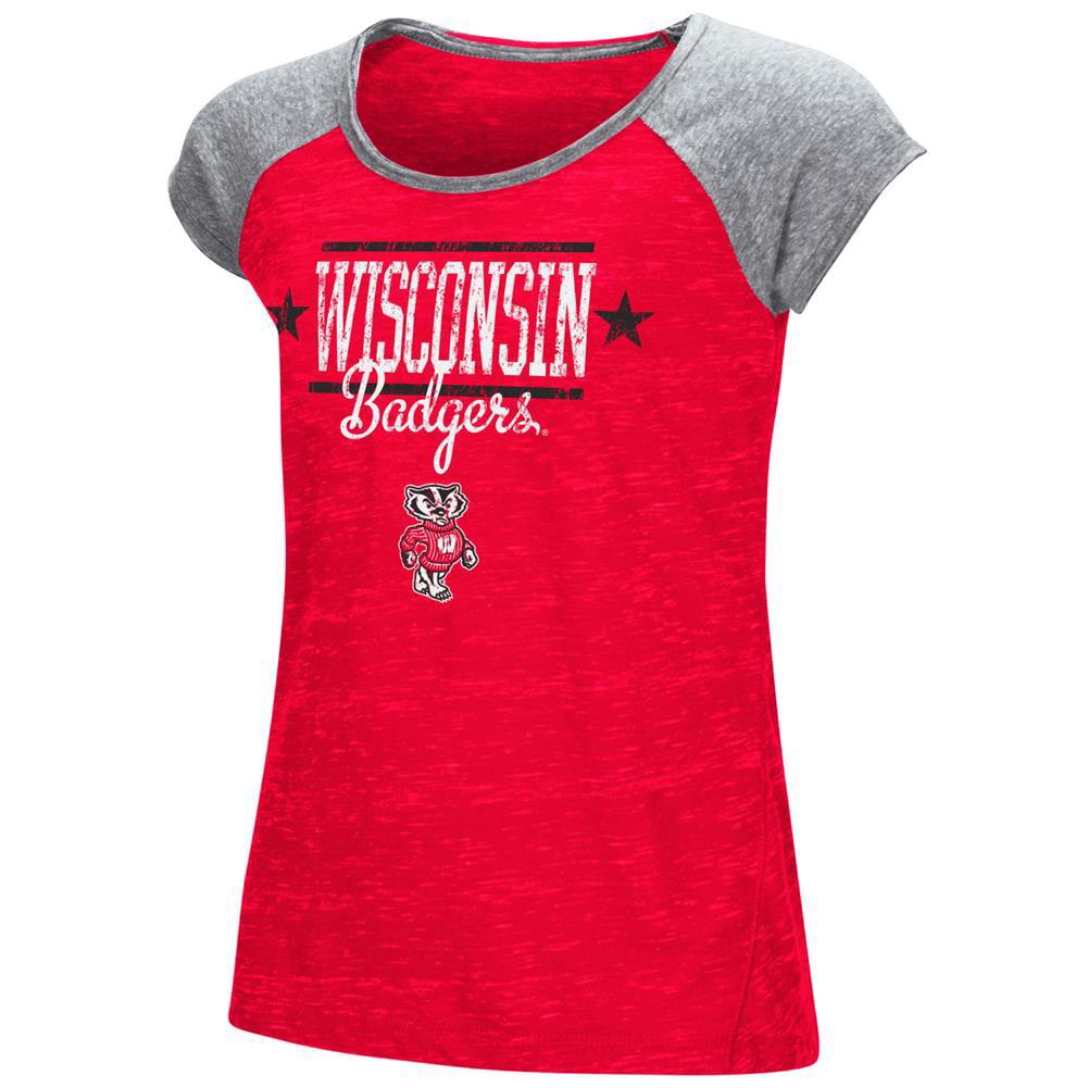 Youth Girl's Sprints Short Sleeve University of Wisconsin Badgers Tee Shirt