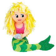 Mermaid Pinata, Pink & Green, 17in x 22in