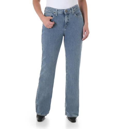 Wrangler Women's Plus-Size Natural Fit Straight Leg Jeans