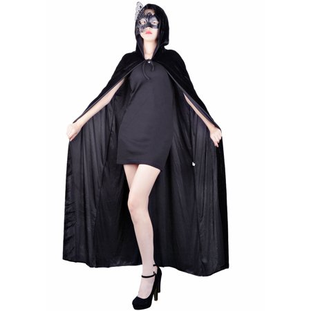 Halloween Costume Party Baltimore (Adult Halloween Capes Party Costumes Witch Long Hooded Cloak for Women)