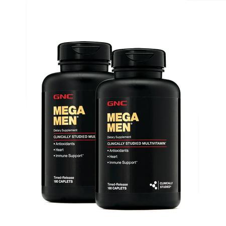 GNC Mega Men® Multivitamin - Twin Pack, Twin Pack - 360 Caplets Total