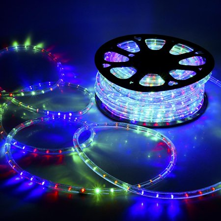 Delight 150ft Rgby 2 Wire Led Rope Light Indoor Outdoor Home Holiday Valentines Party Disco Restaurant Cafe Decoration