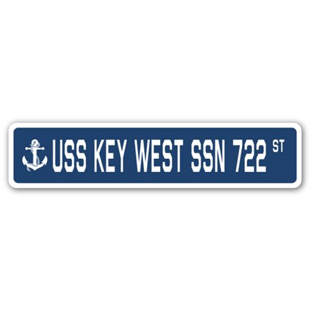 USS KEY WEST SSN 722 Street Sign us navy ship veteran sailor gift - Key West Halloween Parade