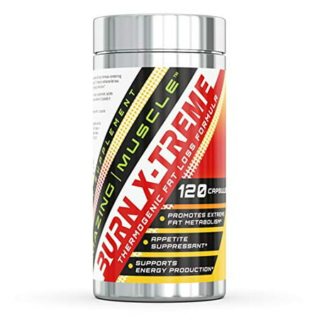 Amazing Nutrition Amazing Muscle Burn X-Treme Complete Thermogenic Formula - 120 Capsules - 30 Servings - Provides a Huge Metabolism Boost, Aids in Energy Protection - Controls Appetite
