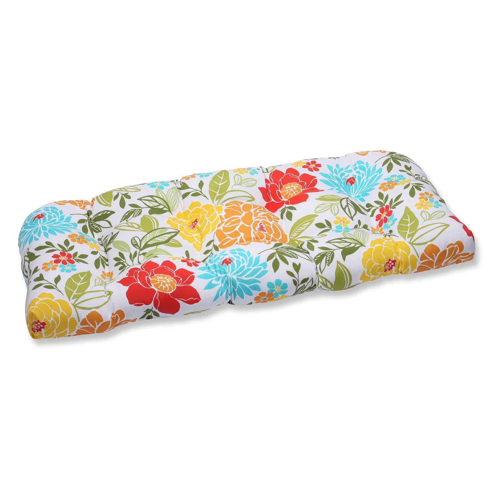 Pillow Perfect Outdoor/ Indoor Spring Bling Multi Wicker Loveseat Cushion