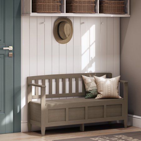WyndenHall  Riverside Solid Wood 48 inch Wide Contemporary Entryway Storage Bench - 20 inch wide ()