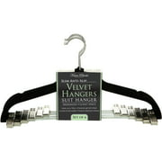 Simplify Velvet Suit Hanger with Clips, 6 Pack