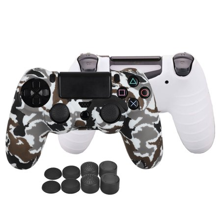 TSV PS4 Controller DualShock 4 Skin Grip Anti-Slip Silicone Cover Protector  Case for Sony PS4/PS4 Slim/PS4 Pro Controller with 8 Thumb Grips