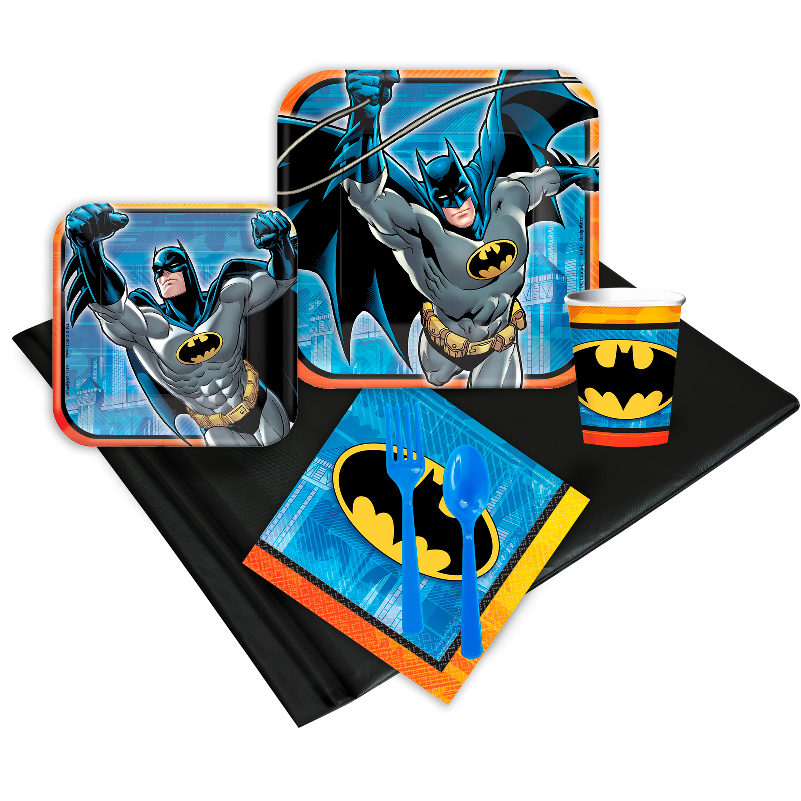 Batman Deluxe Kit (Serves 8) - Party Supplies