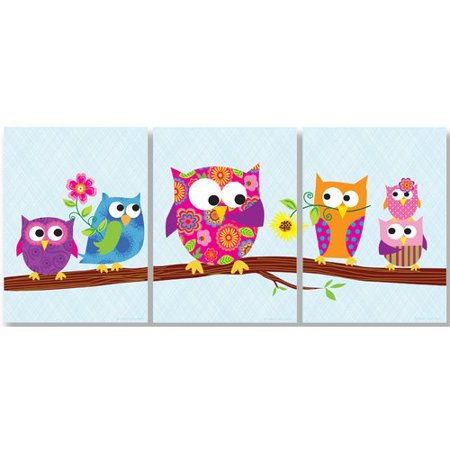 Own Plaque Kit (Zoomie Kids Elektra Owls on Branch Triptych 3 Piece Wall Plaque Set )