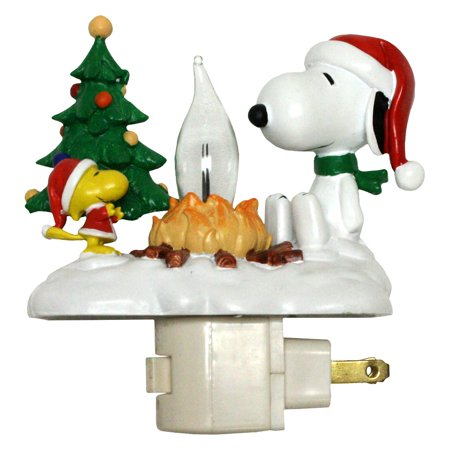 "Roman 46664 - 4.25"" Snoopy Woodstock Christmas Campfire Flickering Night Light (4.25"" SNOOPY WOODSTOCK CAMPFIRE)"
