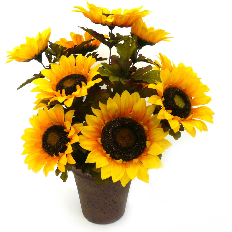 Yellow Sunflower Harvest Pot