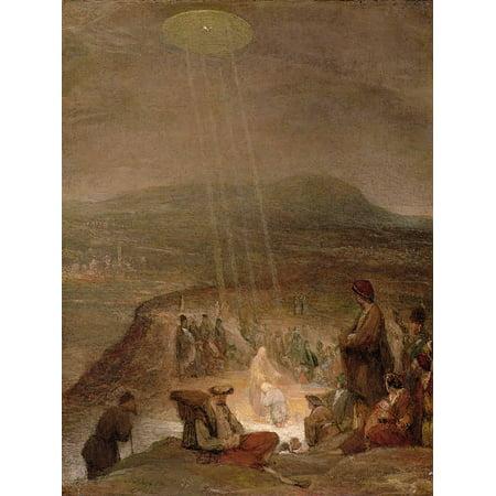 Baptism of Christ, C.1710 Traditional Christian Art Bible Scene Spaceship Art Print Wall Art By Aert de Gelder