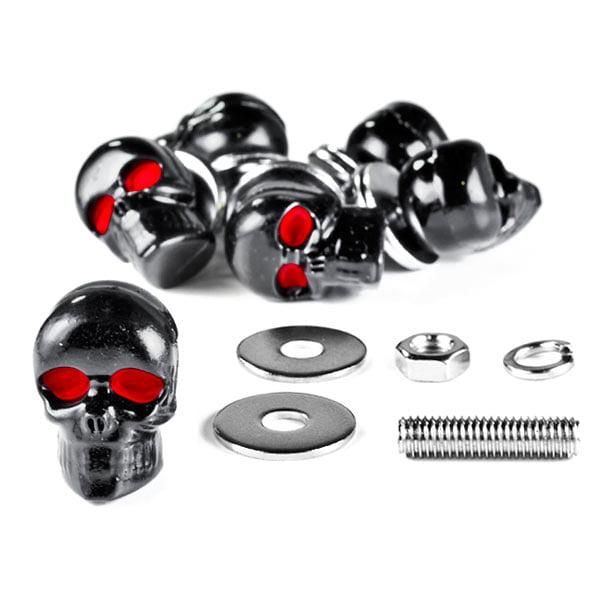 Custom Black Skeleton Skull Bolt Nuts Screws 6mm For Honda Gold Wing Goldwing 1200 1500 1800 - image 6 de 6