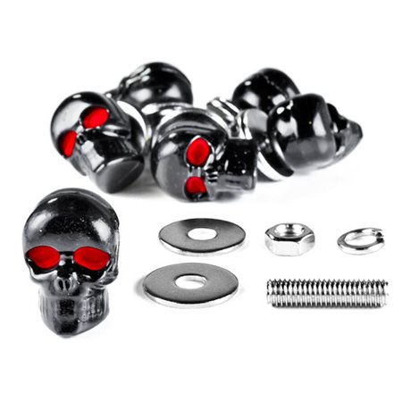 Custom Black Skeleton Skull Bolt Nuts Screws 6mm For Harley Davidson Police FLHP - image 6 of 6