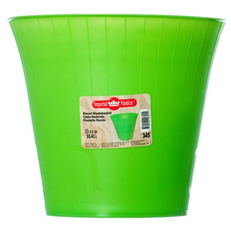 Asst Fashions - New 338132  Wastebasket Rd 11 Qt 3 Asst Clr #345 (24-Pack) Waste Basket Cheap Wholesale Discount Bulk Plasticware Waste Basket