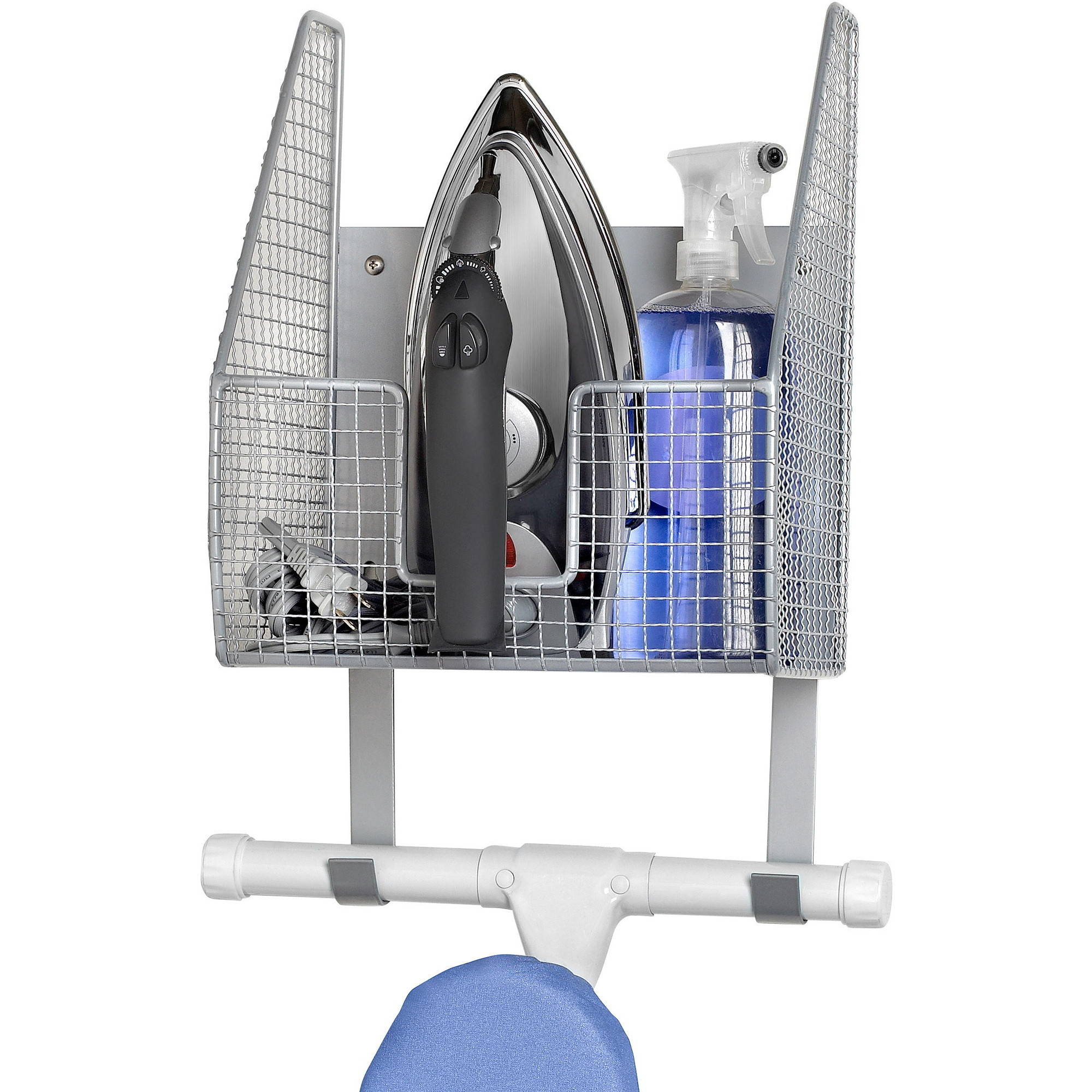 Spectrum Wall Mounted Single Basket w/Ironing Board Holder