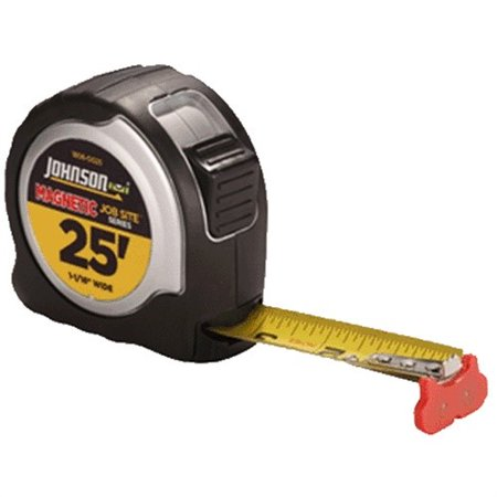 Johnson Level & Tool 1806-0025 Job Site Power Tape Measure, Magnetic Tip, 1-1/16 In. x