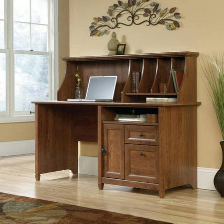Walmart Credit Card Review >> Sauder Edge Water Computer Desk with Hutch, Auburn Cherry ...