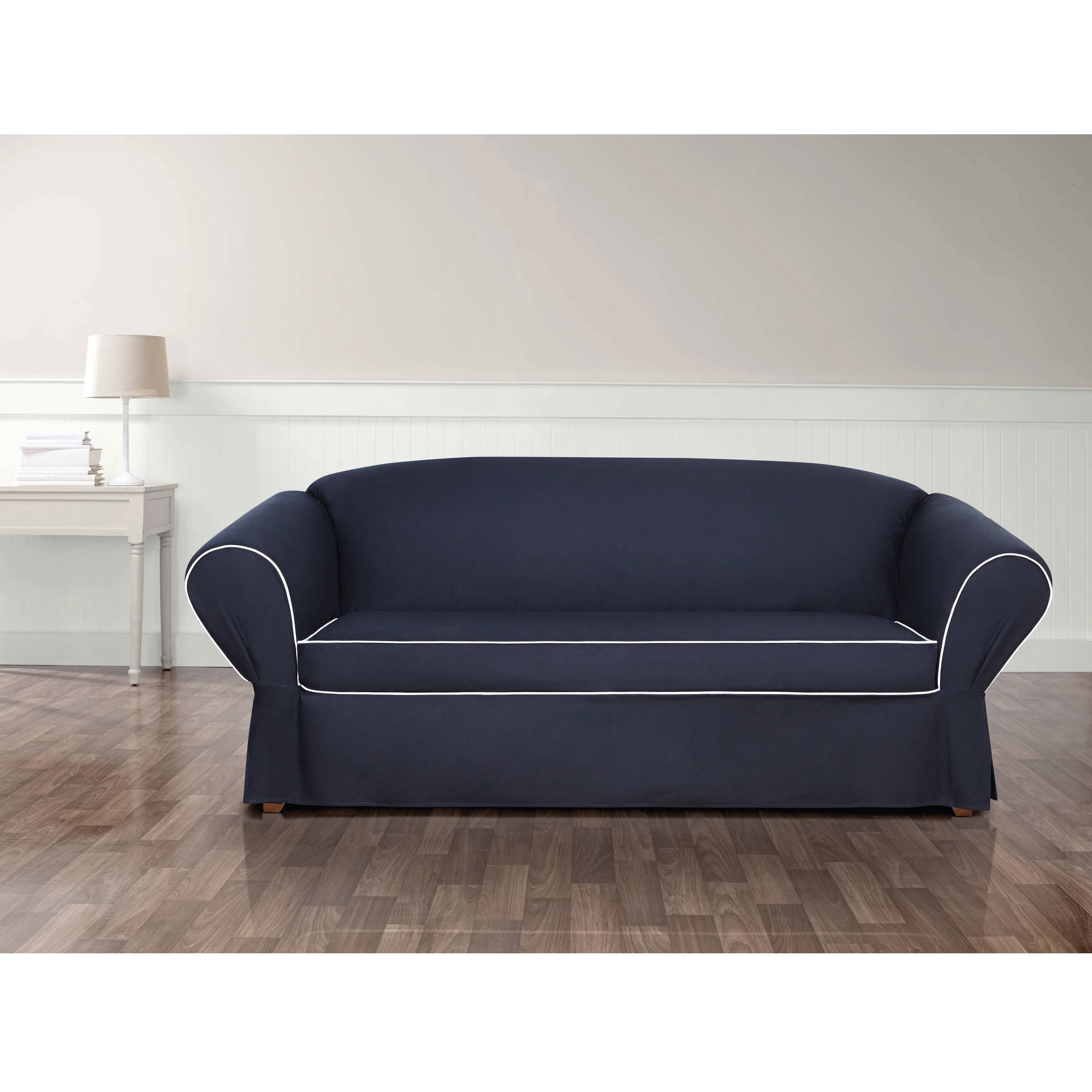 Sure Fit Monaco Corner Pleats with Cord Sofa Slipcover Walmart