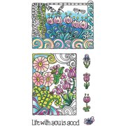 """Color Me Clear Stamps, 4"""" x 7.75"""", Life"""