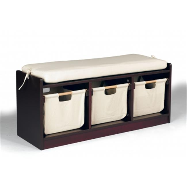 Wonkawoo Deluxe Childrens Storage Bench, Brown