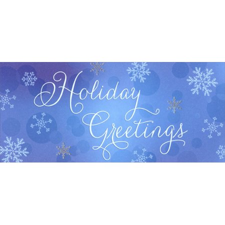 Designer Greetings Holiday Greetings Snowflakes Christmas Money / Gift Card Holder Cards (8 Pack) ()