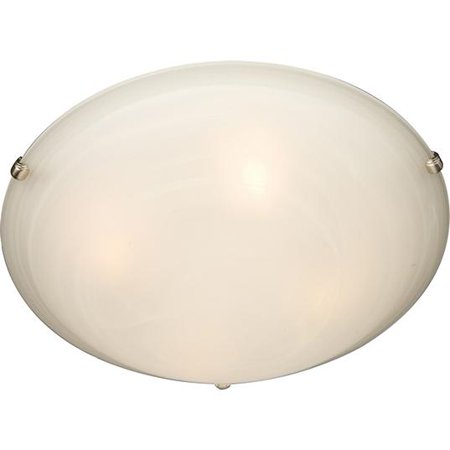 Maxim Lighting 2681MRSN Malaga Flush Mount Light, Satin Nickel
