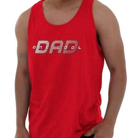 Brisco Brands One Cool Dad Nerdy Superhero Tank Top Tee Shirt For Men