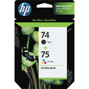HP 74 Black & HP 75 Tri-color Original Ink, 2 Cartridges (CC659FN)