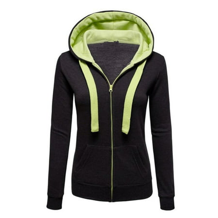 Womens Warm Hoodies Hoody Sweatershirt Hooded Jumper Pullover Coat Zip Jackets