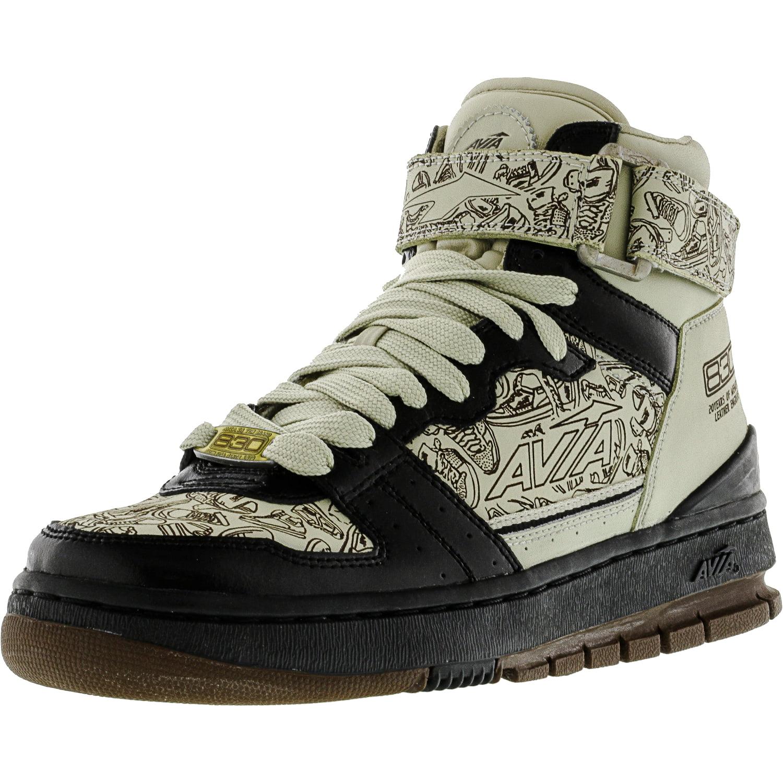 Avia Men's 1Ma9405901 Black   Khaki Brown Gold High-Top Fashion Sneaker 7M by Avia