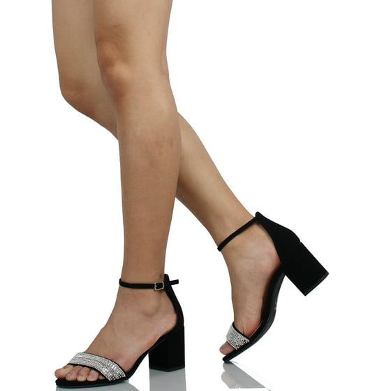 8547a181b09 City Classified - City Classified Women s Shiny Studs Open Toe Ankle ...