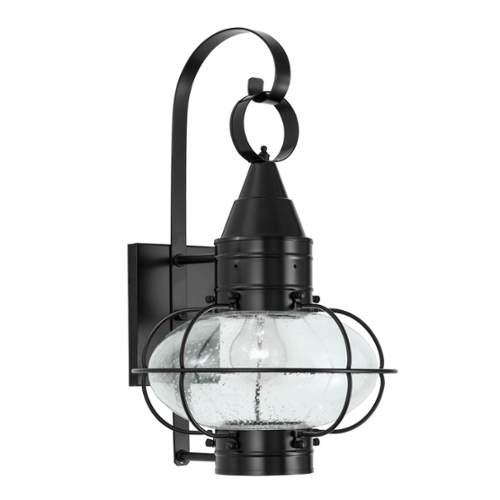Norwell Lighting  1512  Wall Sconces  Classic Onion  Outdoor Lighting  Outdoor Wall Sconces  ;Black with Seedy Glass