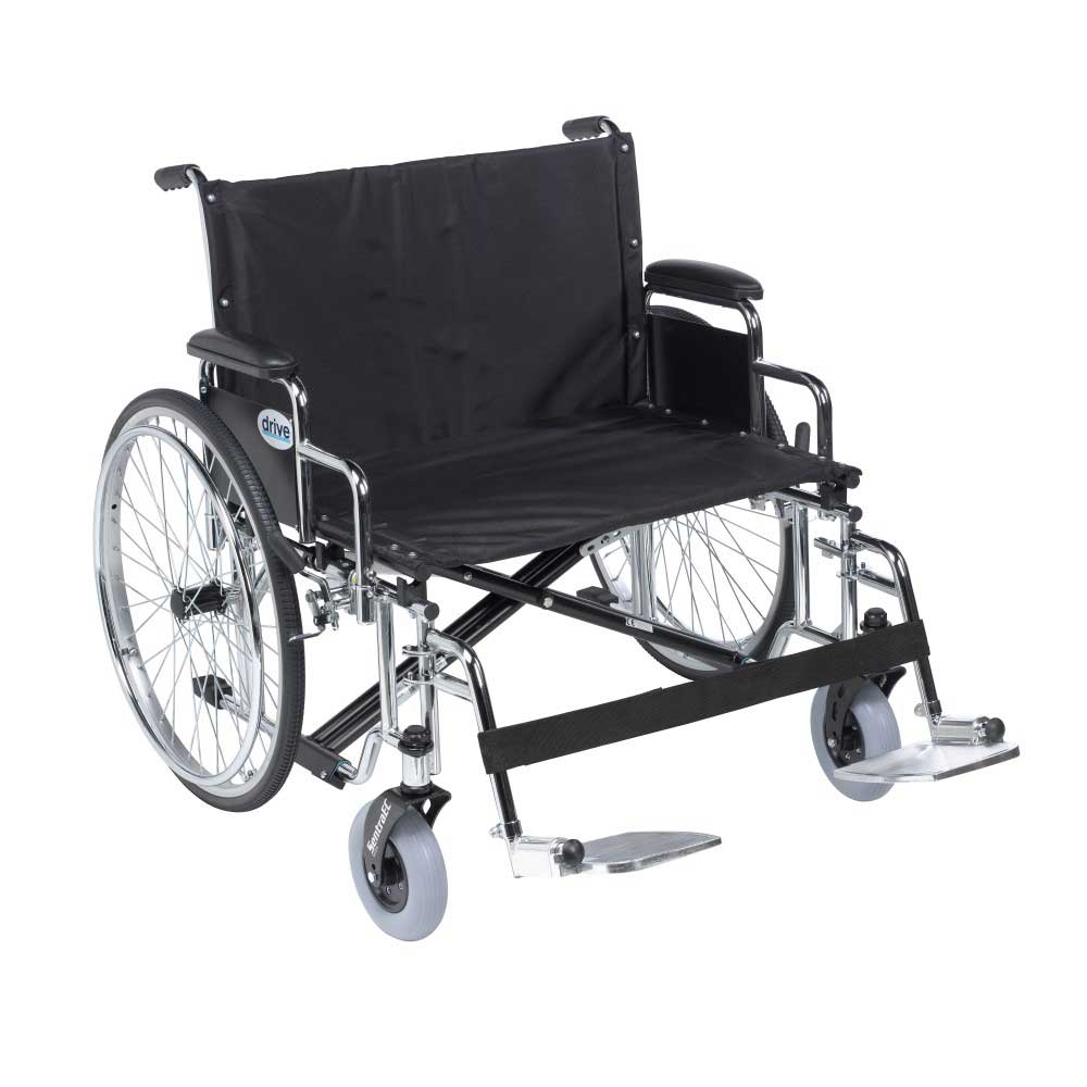 Drive Medical Sentra EC With Desk Arm and Footrests 28""