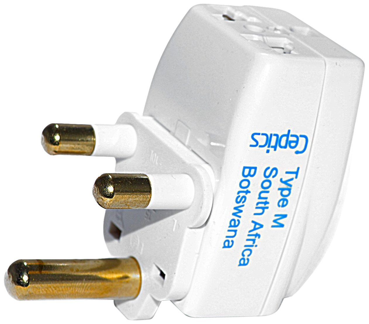 Ceptics Type M 3 Outlet Travel Adapter Plug for South Africa
